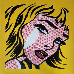 CRYING GIRL (YELLOW) BY STEVE KAUFMAN