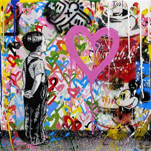 WITH ALL MY LOVE (MICKEY & SPRAY CANS) BY MR. BRAINWASH