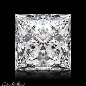 GIA Certified 3.02 Carat Princess Diamond H Color SI2 Clarity Excellent Investment