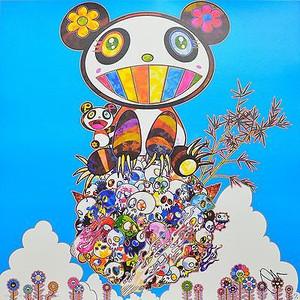 THE PANDAS SAY THEY'RE HAPPY BY TAKASHI MURAKAMI