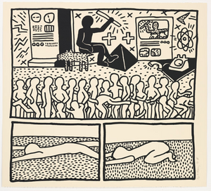 UNTITLED FROM BLUEPRINT SERIES  BY KEITH HARING