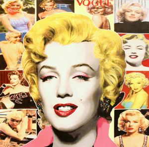 POP MARILYN COLLAGE - WHITE BORDER BY STEVE KAUFMAN
