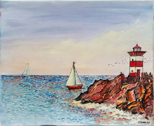 RED LIGHTHOUSE BY CHARLES KONTOS