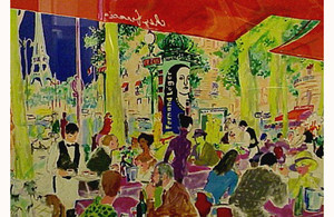 CHEZ FRANCIS BY LEROY NEIMAN