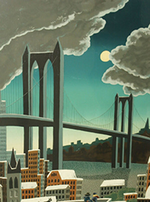 BROOKLYN BRIDGE I BY THOMAS MCKNIGHT