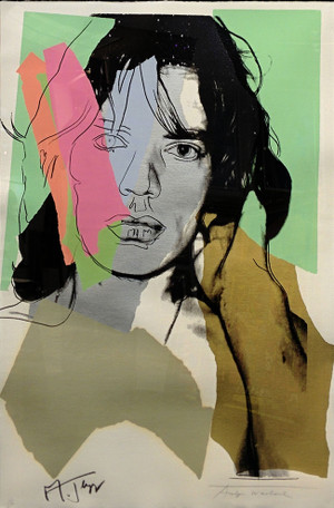 MICK JAGGER FS II.140 BY ANDY WARHOL