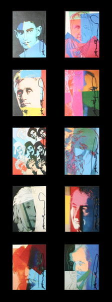 TEN PORTRAITS OF JEWS OF THE 20TH CENTURY (INVITATIONS) BY ANDY WARHOL