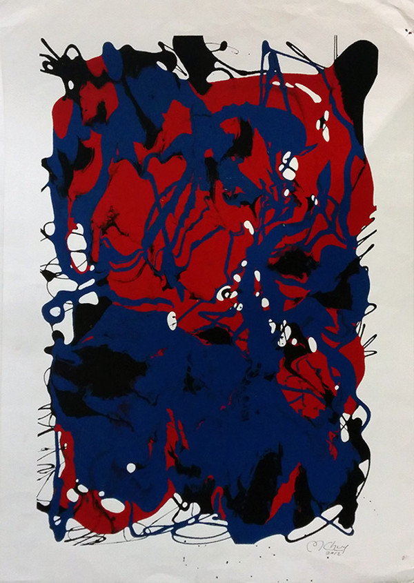 ABSTRACT (RED AND BLUE) BY MARIO CHUY