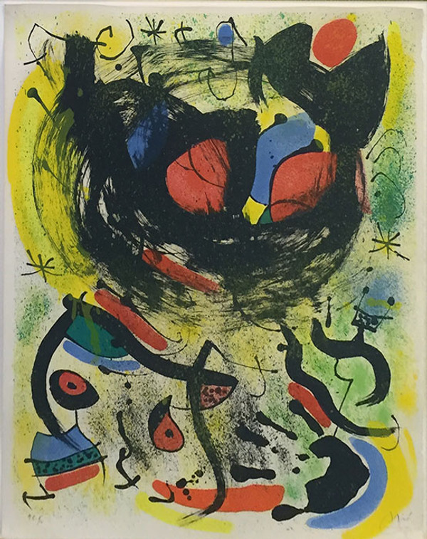 the seers i les voyants by joan miro grun art. Black Bedroom Furniture Sets. Home Design Ideas