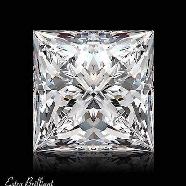 GIA Certified 1.03 Carat Princess Diamond E Color SI2 Clarity Excellent Investment