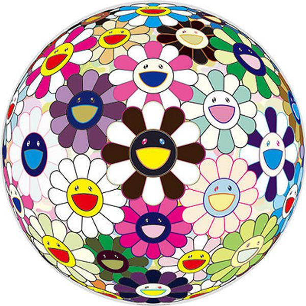 FLOWERBALL BROWN 2010  BY TAKASHI MURAKAMI
