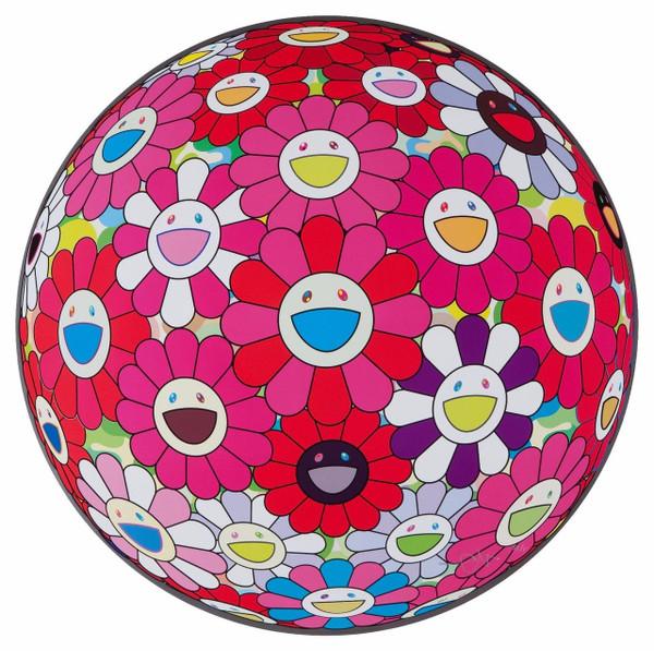 FLOWERBALL TURN RED! (3D) BY TAKASHI MURAKAMI