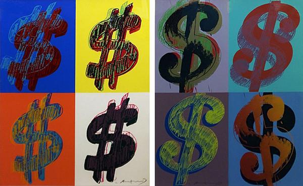 $ (QUANDRANT) FS II.283-284 ( PORTFOLIO OF 2) BY ANDY WARHOL