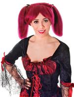Steampunk. Burgundy Wig
