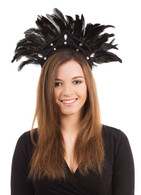 Carnival Headdress. Black Feather