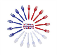 Red/White/Blue Forks.