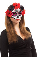 Day of the Dead Darling Mask , On Glasses Frame