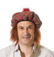 Scots Tartan Hat/Ginger Hair.