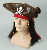 Pirate Caribbean Hat + Hair.