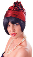 Cloche 20's Hat. Red, Fancy Dress Hat
