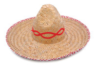 Mexican Straw Sombrero. Budget, Fancy Dress Hat
