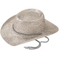 Cowboy Hat, Glitter Silver