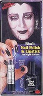Black Nail And Lipstick.