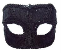 Black Velvet Mask Male W/Eyeglass.