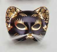 Black/Gold Cat Mask.
