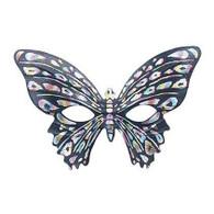 Butterfly Eye Mask Black.
