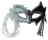Black / White Mask + Tassels.