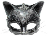 Cat Mask Jewelled On Band.