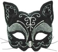 Black Glitter Cat Mask.