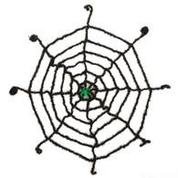 Spider Web. Black with Glow Spider