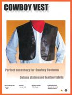 Cowboy Waistcoat (Deluxe) [Brown].