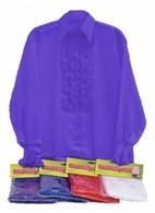 Satin Shirt and Ruffles (Purple).