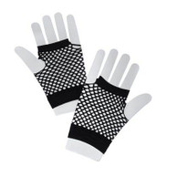 Fishnet Gloves Short Black.