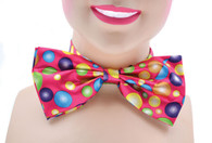 Clown Bow Tie. Pink With Spots
