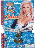 Lady In Navy Choker.