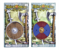 Viking Sword, Shield + Axe Set.