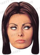 Sophia Loren Celebrity Face Card Mask