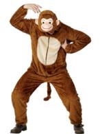 "Monkey Costume, Adult, Chest 42""-44"", Leg Inseam 33"""