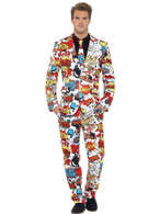 Comic Strip Suit, XL, Adult Costumes Stand Out Suits Fancy Dress