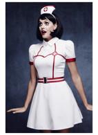 Fever Bed Side Nurse Costume, with Dress, UK 8-10