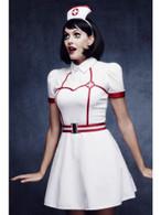 Fever Bed Side Nurse Costume, with Dress, UK 12-14