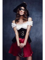 Fever Pirate Wench Costume, with Dress, UK 8-10