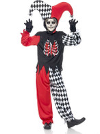 Blood Curdling Jester Costume, Large