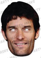Mark Webber Celebrity Face Card Mask