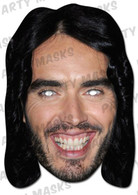 Russell Brand Celebrity Face Card Mask