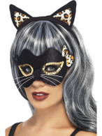 Midnight Kitty Eye Mask and Ear Set, One Size
